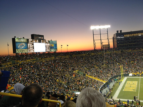 Lambeau at Sunset