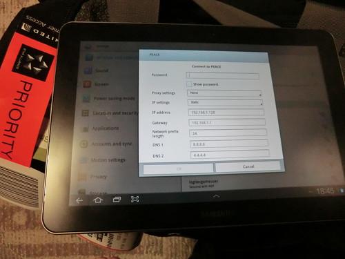 GALAXY TAB 10.1 Wifi fixed IP set-up