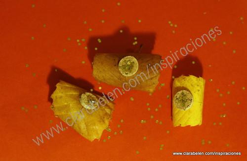 Manualidades para Navidad con hojas secas de castaño