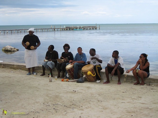 local drummers on caye caulker belize