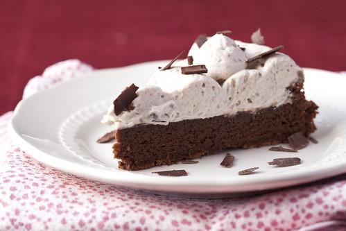 Pastís de xocolata i mousse d'avellanes 4
