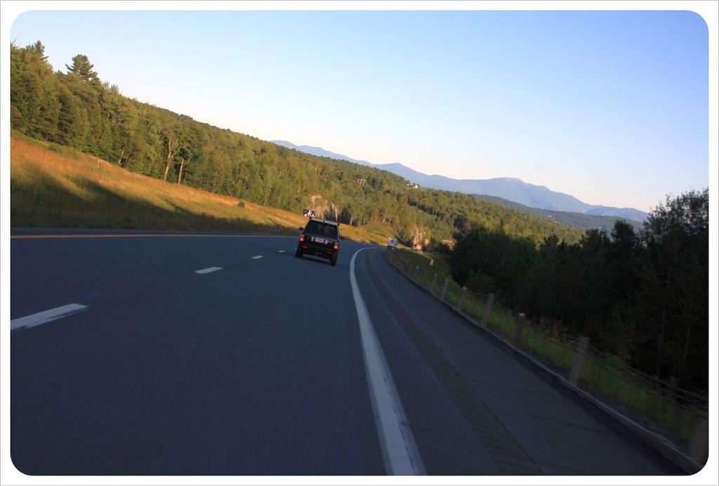 road trip vermont dusk