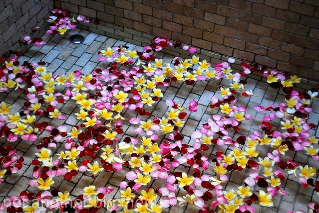 The Elysian, Bali - Flower petals