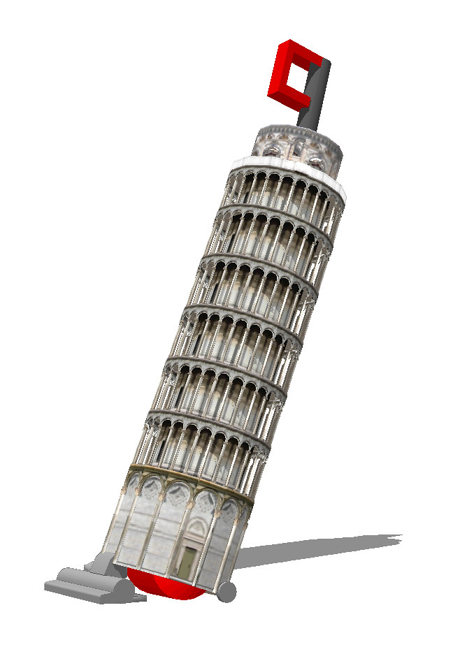 The Leaning Tower of Pisa Vacuum Cleaner