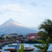 Mayon Volcano and Legazpi port area