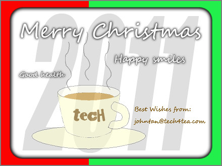Best Christmas Wishes from tech4tea.com