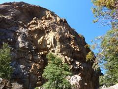 Remontée du Carciara : la paroi S du canyon