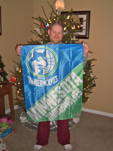 Old School Timberwolves Flag