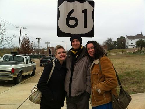 Erica, Christopher, and Katie, Highway 61