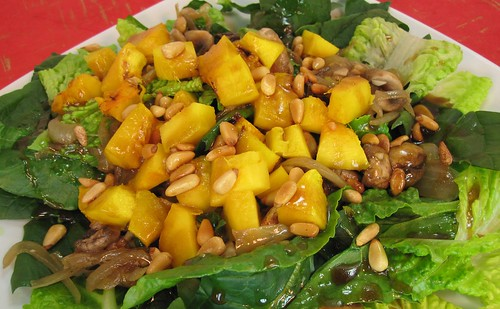 Winter pumpkin salad