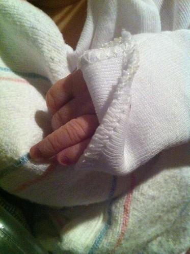Hallie's hand