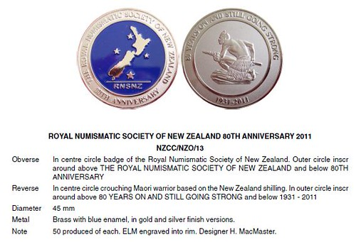 New Zealand Challenge Coins sample page