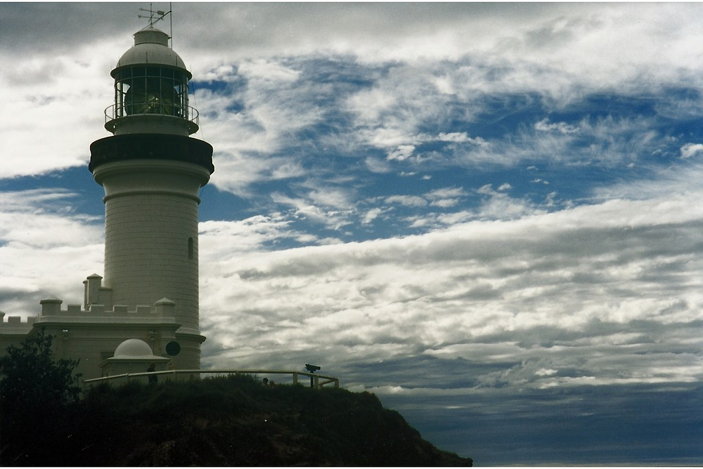 The Cape Byron Lighthouse on a winter evening