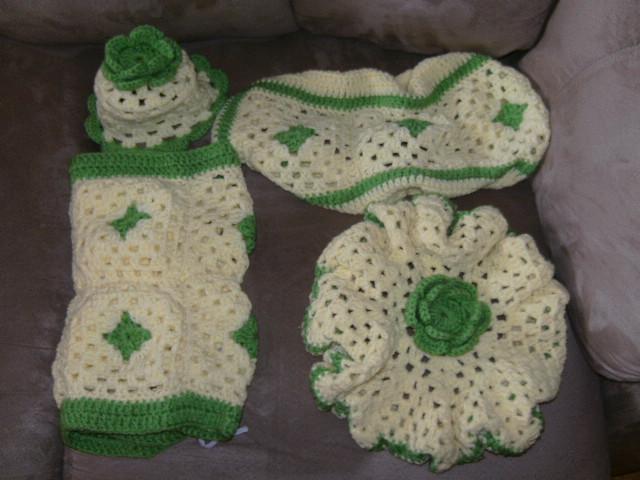set de ba o tejido al crochet