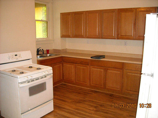 Kitchen cabinets laminate flooring flickr photo sharing for Kitchen cabinets laminate