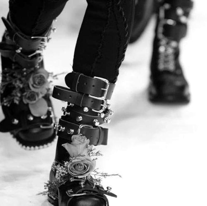 rose combat boots
