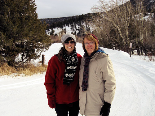 Me and my Mom - Hiking in Rocky Mountain National Park, Colorado - February 2011