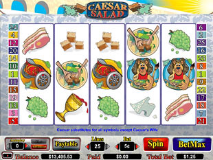 Caesar Salad slot game online review