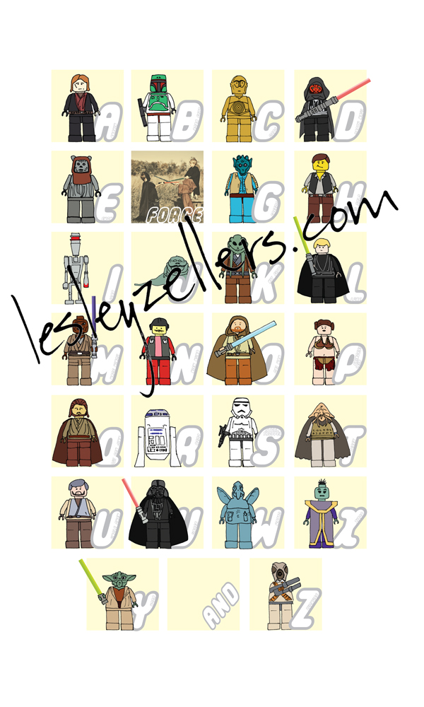 Lego Star Wars Alphabet Poster