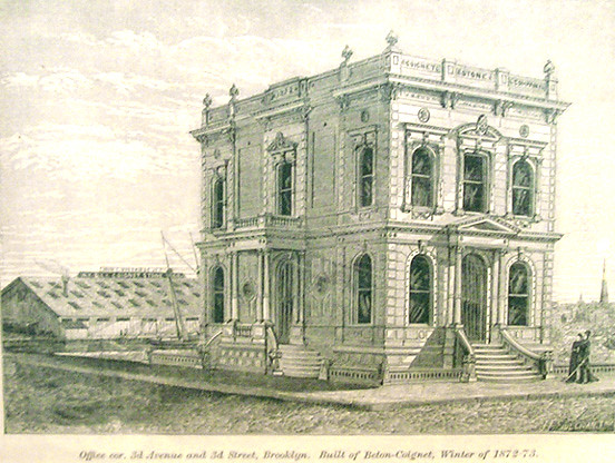 Historic Etching of Conglon building
