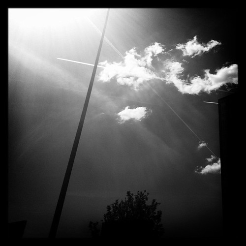 Salford sky and cloud and lamp post