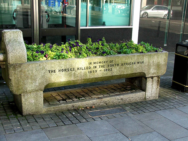 This was once a horse-watering trough, built in memory of British horses that died in the Boer War in South Africa.