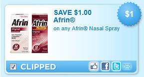 Afrin Nasal Spray Coupon