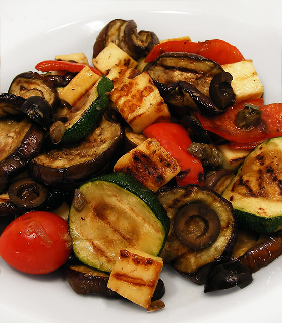 Grilled vegetable Salad with balsamic dressing | Flickr - Photo ...