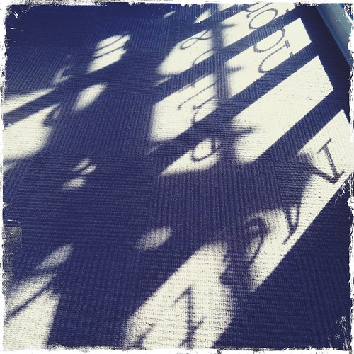 shadows through the window at my yoga studio