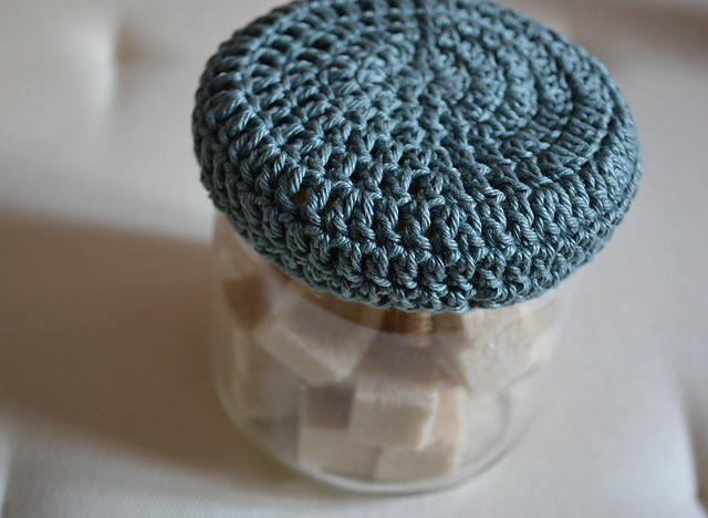 Chapeau de pot en crochet