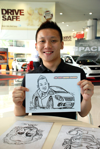 Caricature live sketching for Tan Chong Nissan Motor Almera Soft Launch - Day 3 - 1