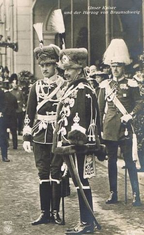 The German Emperor Wilhelm II. and his son in law Ernst August of Hanover