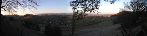 Panoramafoto vom Rotberg über Mandach