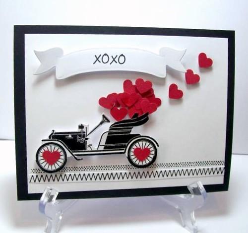 Vintage Car Valentine by judkajudy