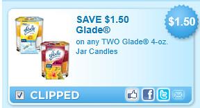 Glade 4-oz. Jar Candles Coupon