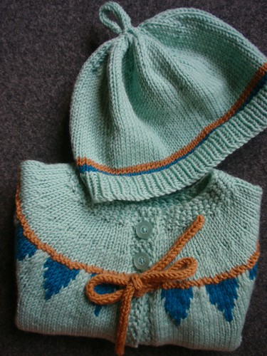 baby bunting + hat close-up