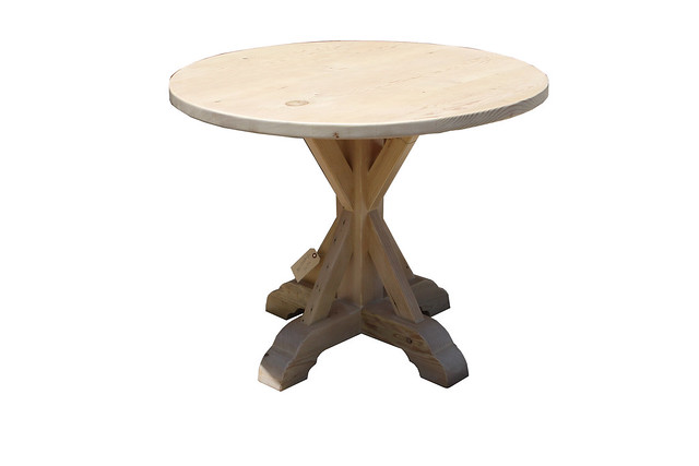 Reclaimed Wood X Base Round Dining Table Flickr Photo