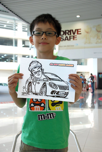 Caricature live sketching for Tan Chong Nissan Motor Almera Soft Launch - Day 4 - 9