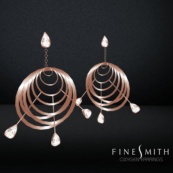 oxygen earrings copper