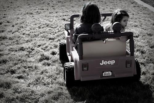 Barbie Jeep Ride!