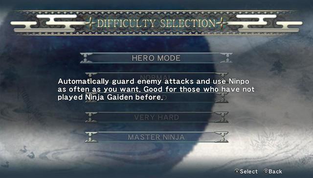 Ninja Gaiden Sigma Plus Difficulty