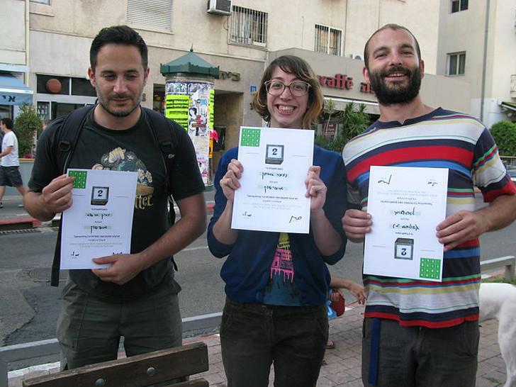 אחת הקבוצות שזכתה במקום השני לאחר שהשלימה את כל המילים