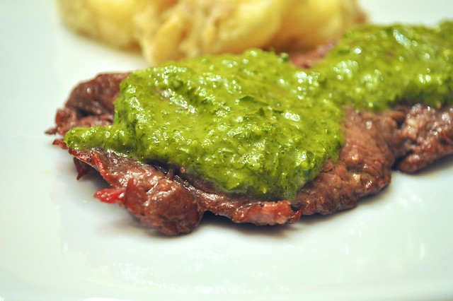Green Onion Chimichurri on Churrasco