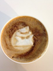 Today's latte, Mr. Incognito.