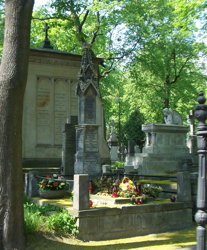 The Catholic cemetery in Warsaw, Poland