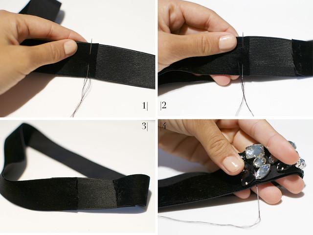 Как сделать ободок резинка