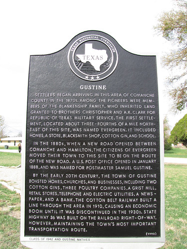 texas unitedstates photostream gustine waymarking texashistoricalmarkers