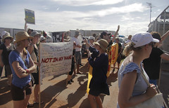 protesting at leonora detention centre friday 6