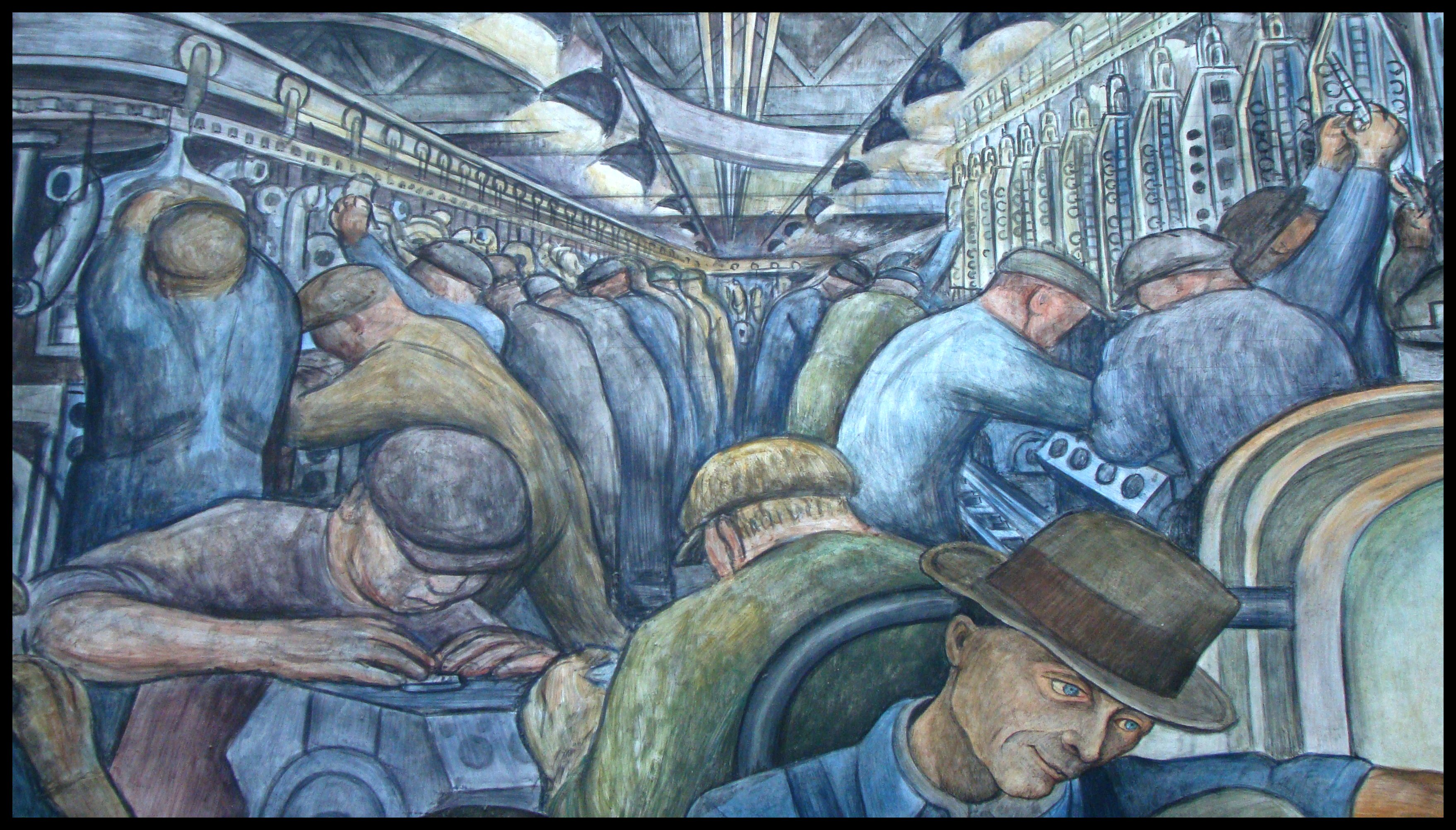 Detroit institute of art diego rivera mural flickr for Diego rivera detroit mural