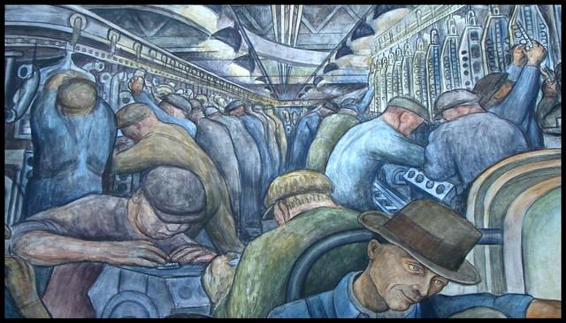 Detroit institute of art diego rivera mural flickr for Diego rivera detroit industry mural